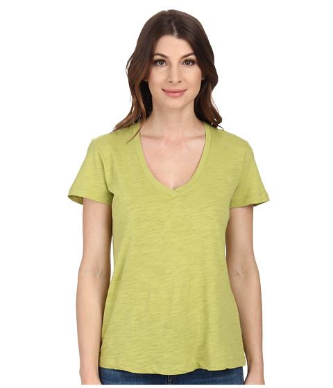 Mod-o-doc - Slub Jersey Short Sleeve V-Neck Tee (Limeade) Women's Short Sleeve Pullover