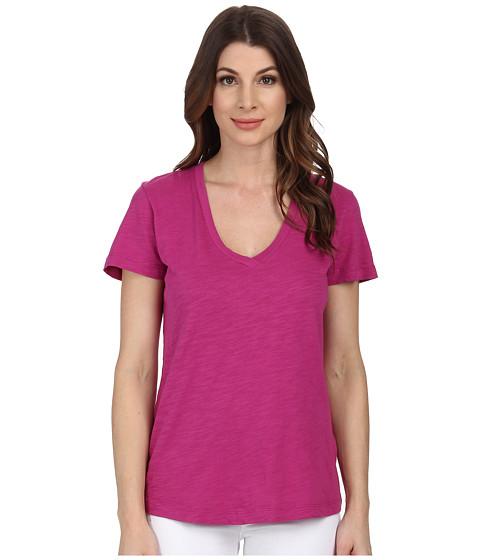 Mod-o-doc - Slub Jersey Short Sleeve V-Neck Tee (Plume) Women
