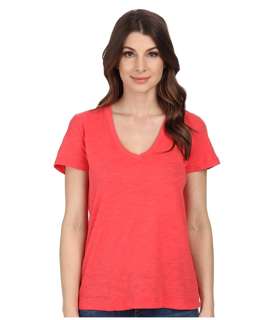 Mod-o-doc - Slub Jersey Short Sleeve V-Neck Tee (Tutti Frutti) Women's Short Sleeve Pullover