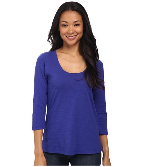 Mod-o-doc - Slub Jersey 3/4 Sleeve Scoop Neck Tee (Deep Violet) Women's Long Sleeve Pullover
