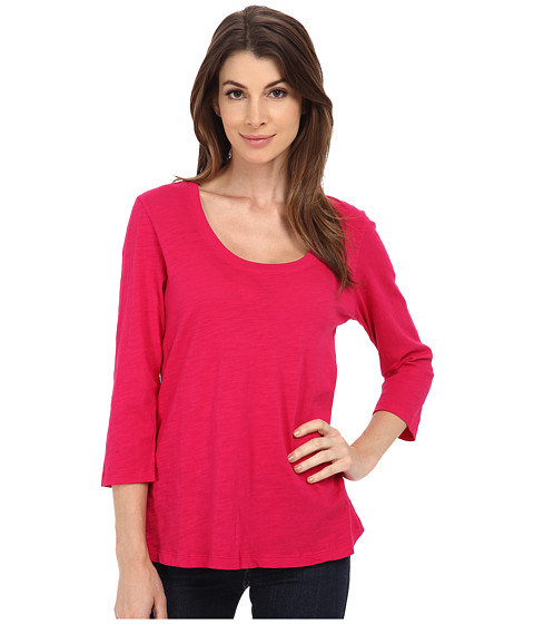 Mod-o-doc - Slub Jersey 3/4 Sleeve Scoop Neck Tee (Lotus) Women