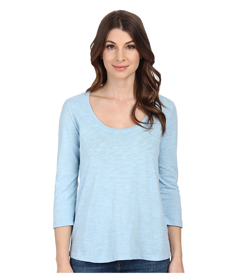 Mod-o-doc - Slub Jersey 3/4 Sleeve Scoop Neck Tee (Skysail) Women