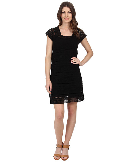 Mod-o-doc - Twofer Dress Cover-up (Black) Women's Dress
