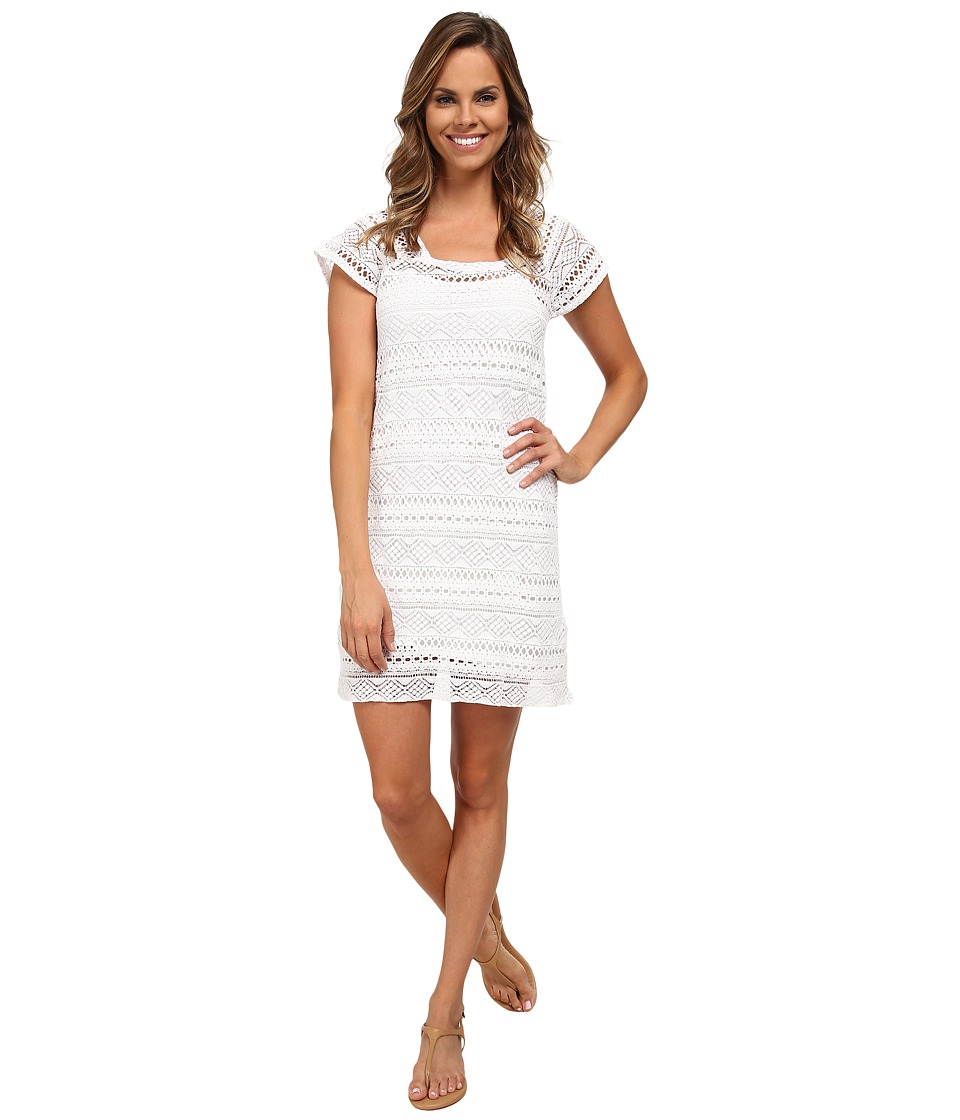 Mod-o-doc - Twofer Dress Cover-up (White) Women's Dress