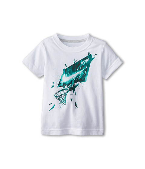 Nike Kids - Glass Shatter Short Sleeve Tee (Toddler) (White) Boy's T Shirt