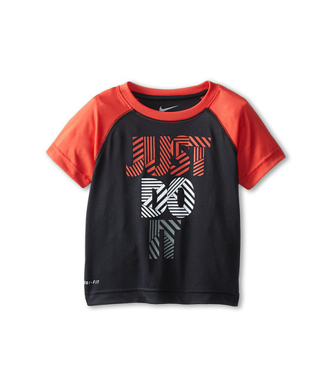Nike Kids - Just Do It Dri-Fit Raglan Tee (Toddler) (Black) Boy