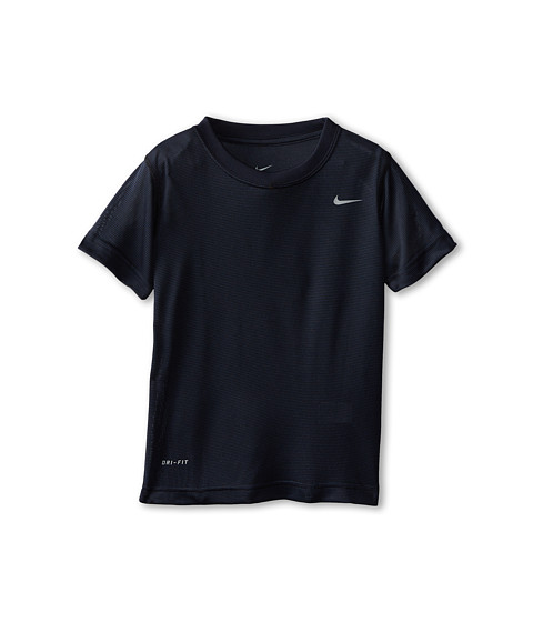 Nike Kids - Vapor Tech Legend Short Sleeve Top (Little Kids) (Black) Boy's Short Sleeve Pullover