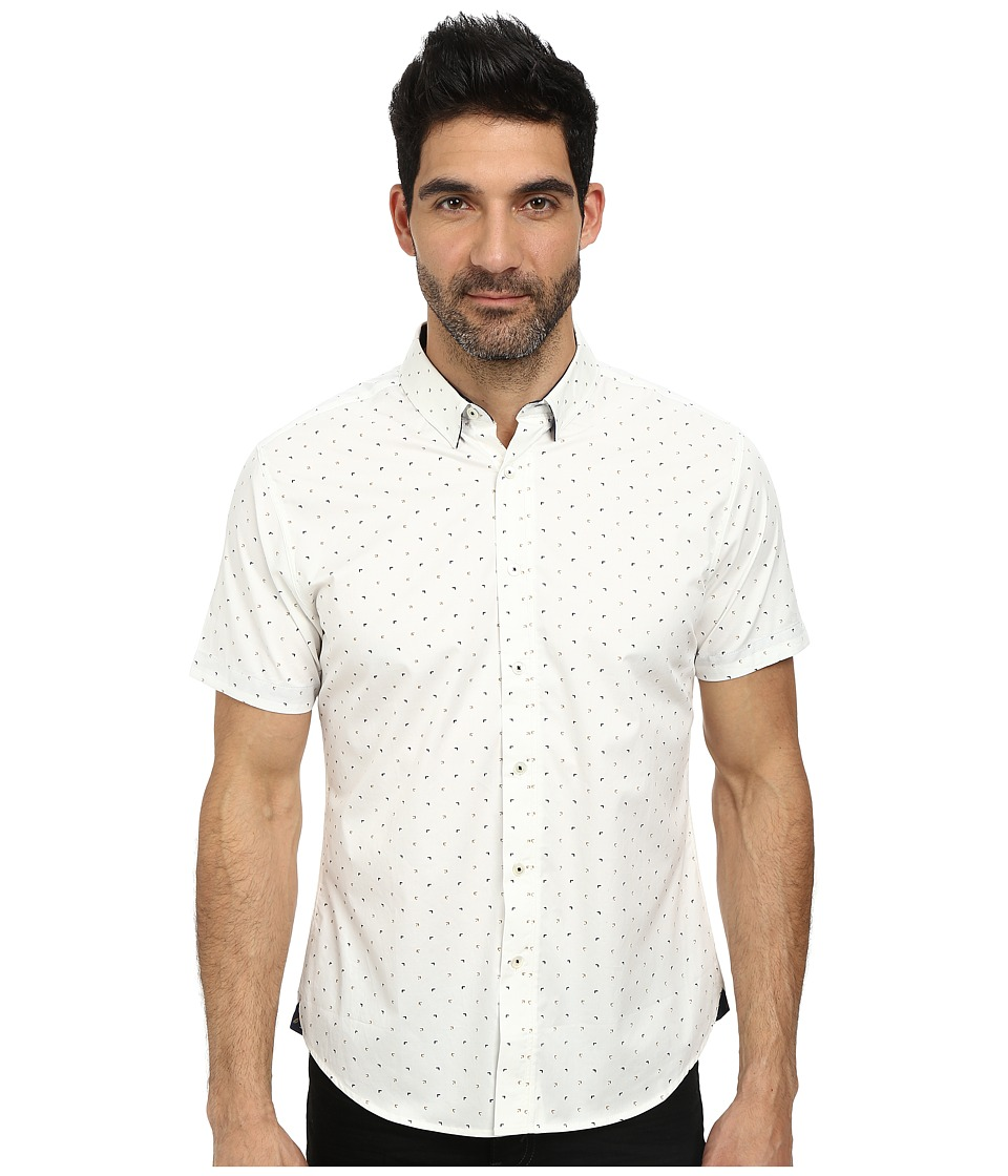 7 Diamonds - Another World Top (White) Men's Short Sleeve Button Up