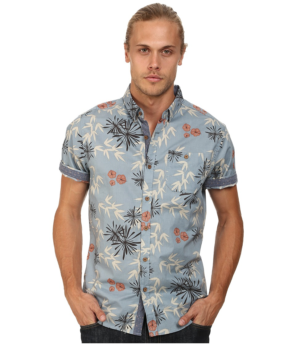 7 Diamonds - Plastic Jungle Top (Slate) Men's Short Sleeve Button Up