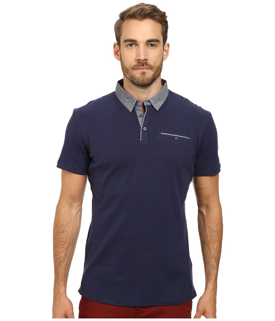 7 Diamonds - Collider Polo (Navy) Men's Short Sleeve Pullover