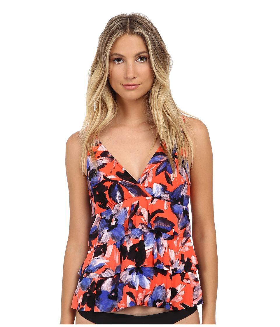 Magicsuit - Curacao Corynne Tankini Top (Coral) Women's Swimwear