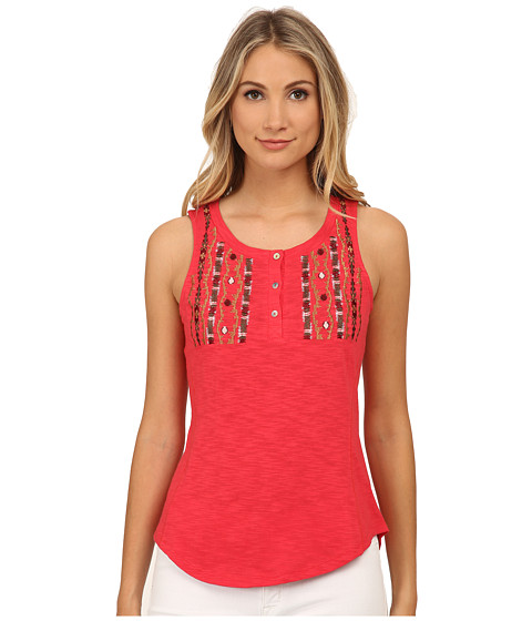 Sanctuary - Artist Henley Tank Top (Strawberry Field) Women's Sleeveless