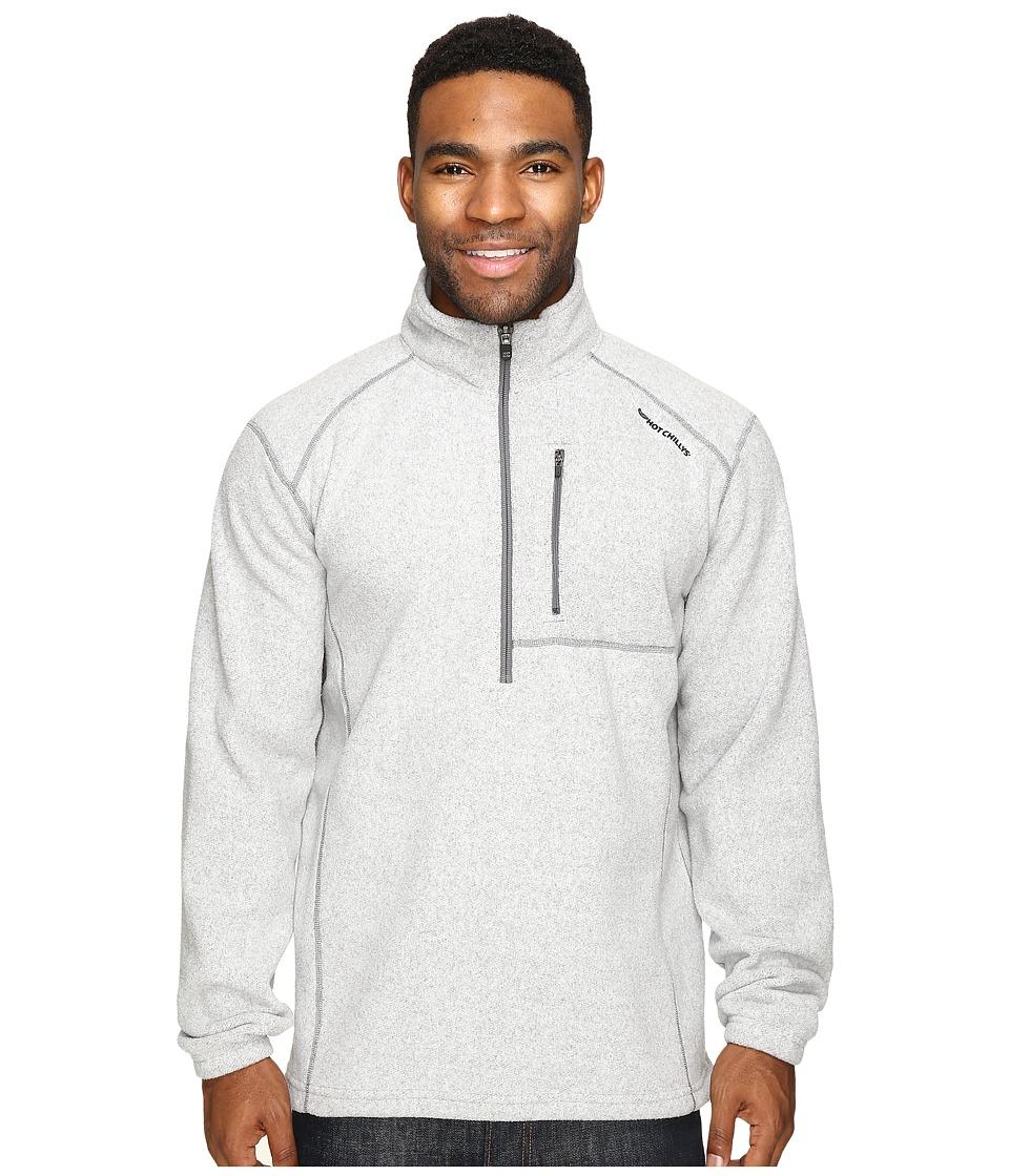 Hot Chillys - Baja Pocket Zip-T (Asphalt) Men's Clothing