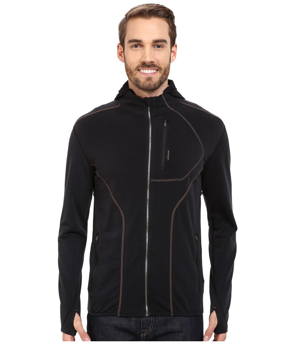 Hot Chillys - F10 Endurance 8K Zip Jacket (Black/Black) Men's Coat