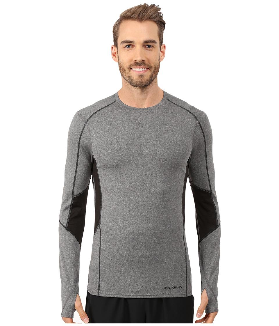 Hot Chillys - F8 Performance 8K Crewneck (Granite/Black) Men's Short Sleeve Pullover