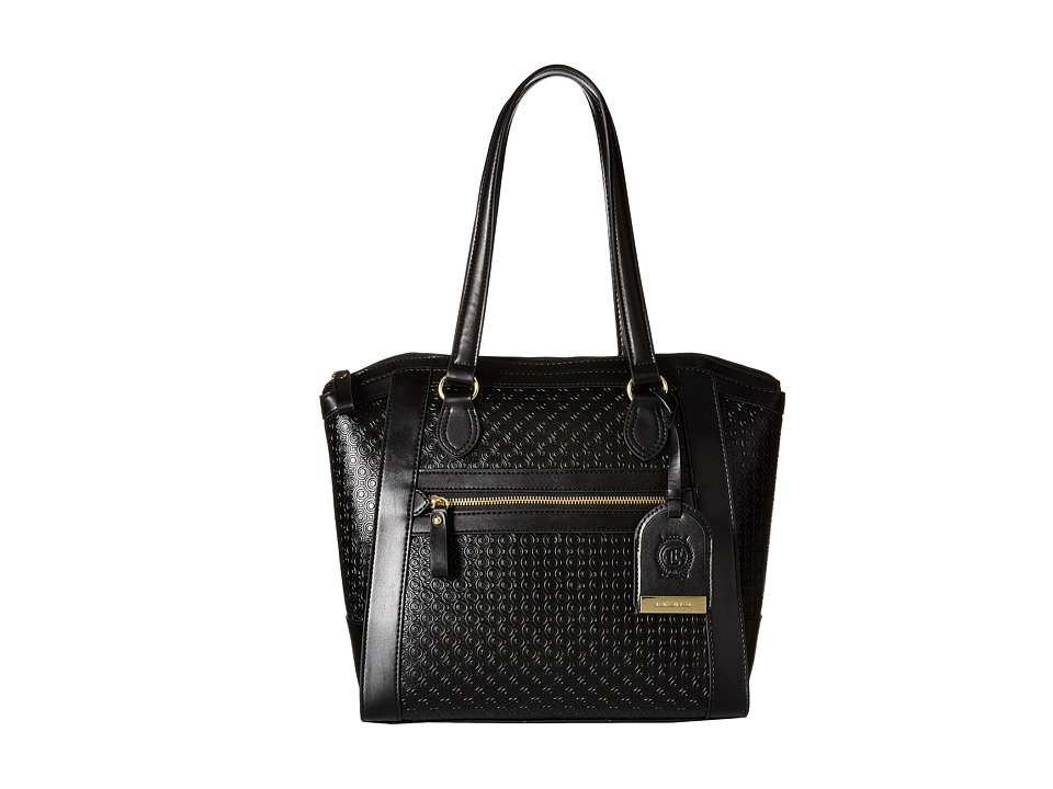London Fog - Thames Tote (Black Embossed) Tote Handbags