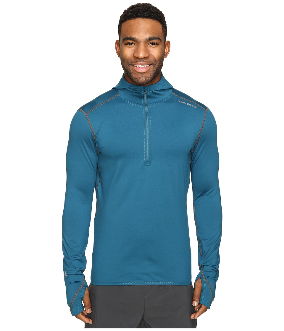 Hot Chillys - F8 Performance 8K Hooded Pullover (Lagoon) Men's Sweatshirt