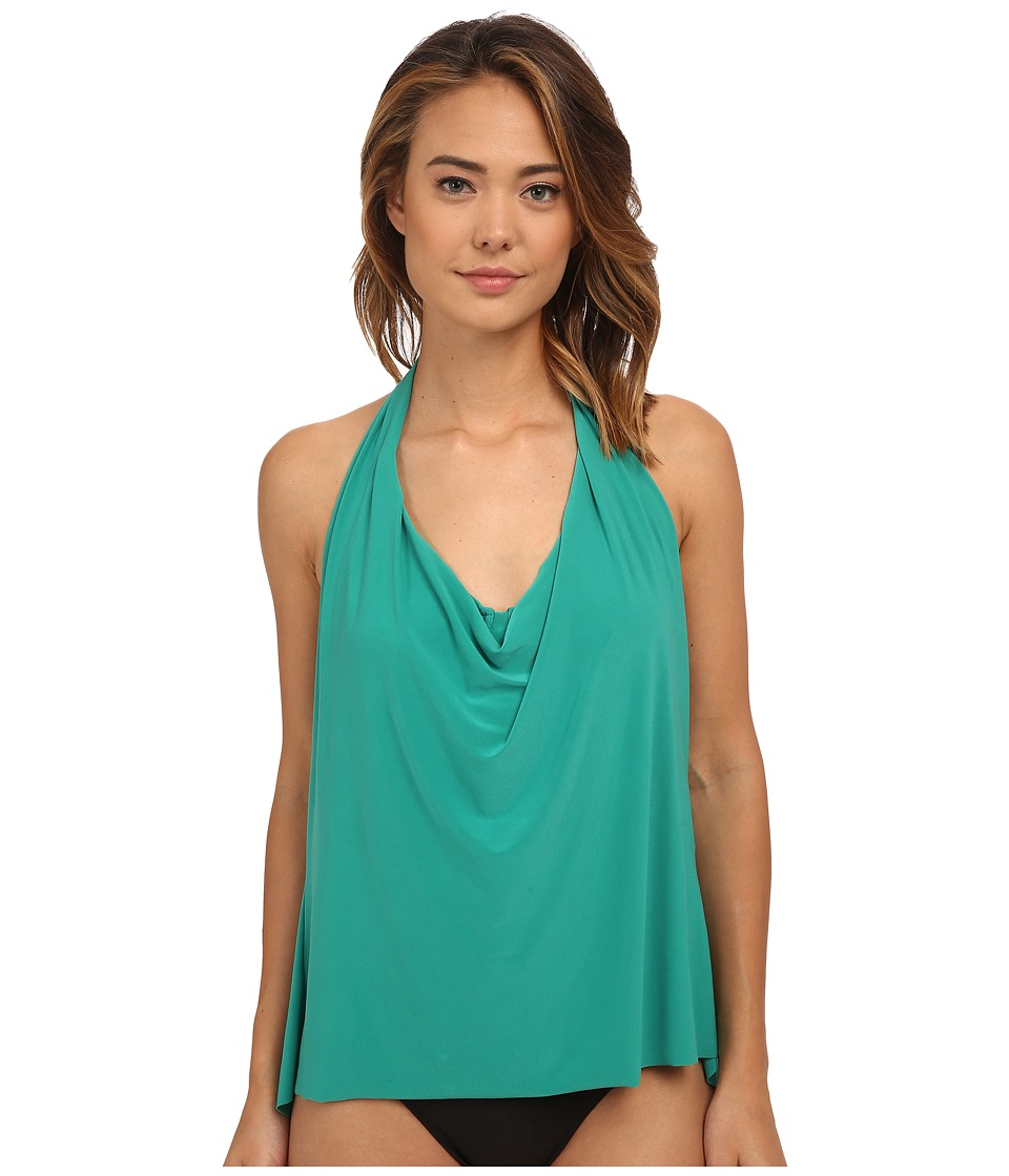 Magicsuit Solid Sophie Tankini Top (Emerald) Women
