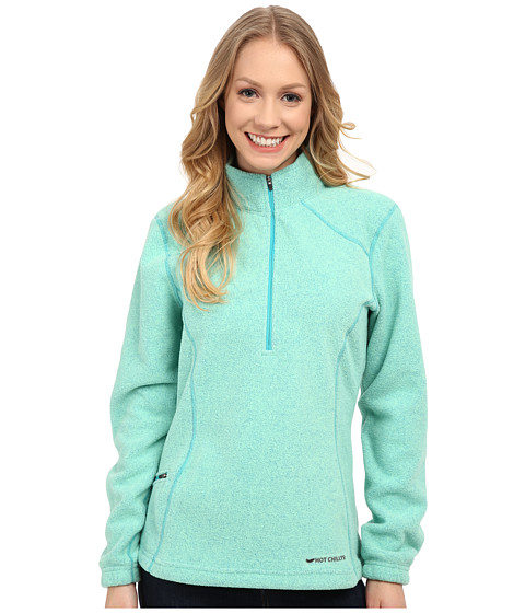 Hot Chillys - Baja Pocket Zip-T (Ocean) Women's T Shirt