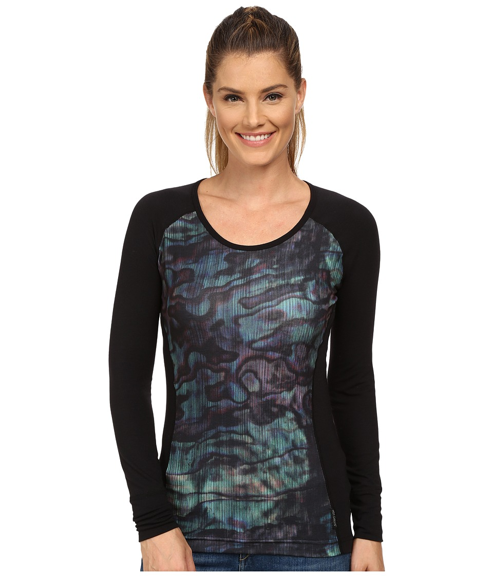 Hot Chillys - MTF Sublimated Print Scoop Neck Top (Abalone/Black) Women's T Shirt