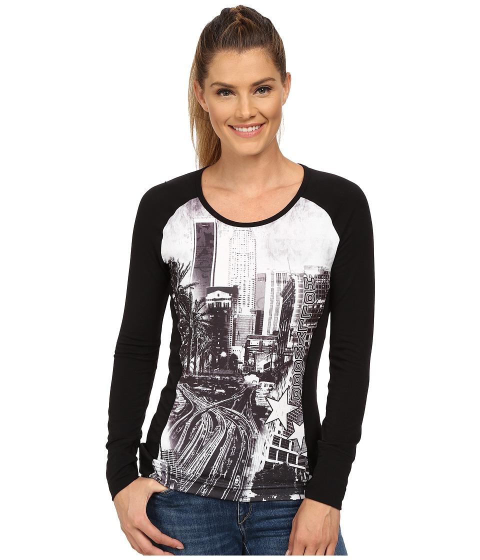 Hot Chillys - MTF Sublimated Print Scoop Neck Top (Hollywood/Black) Women