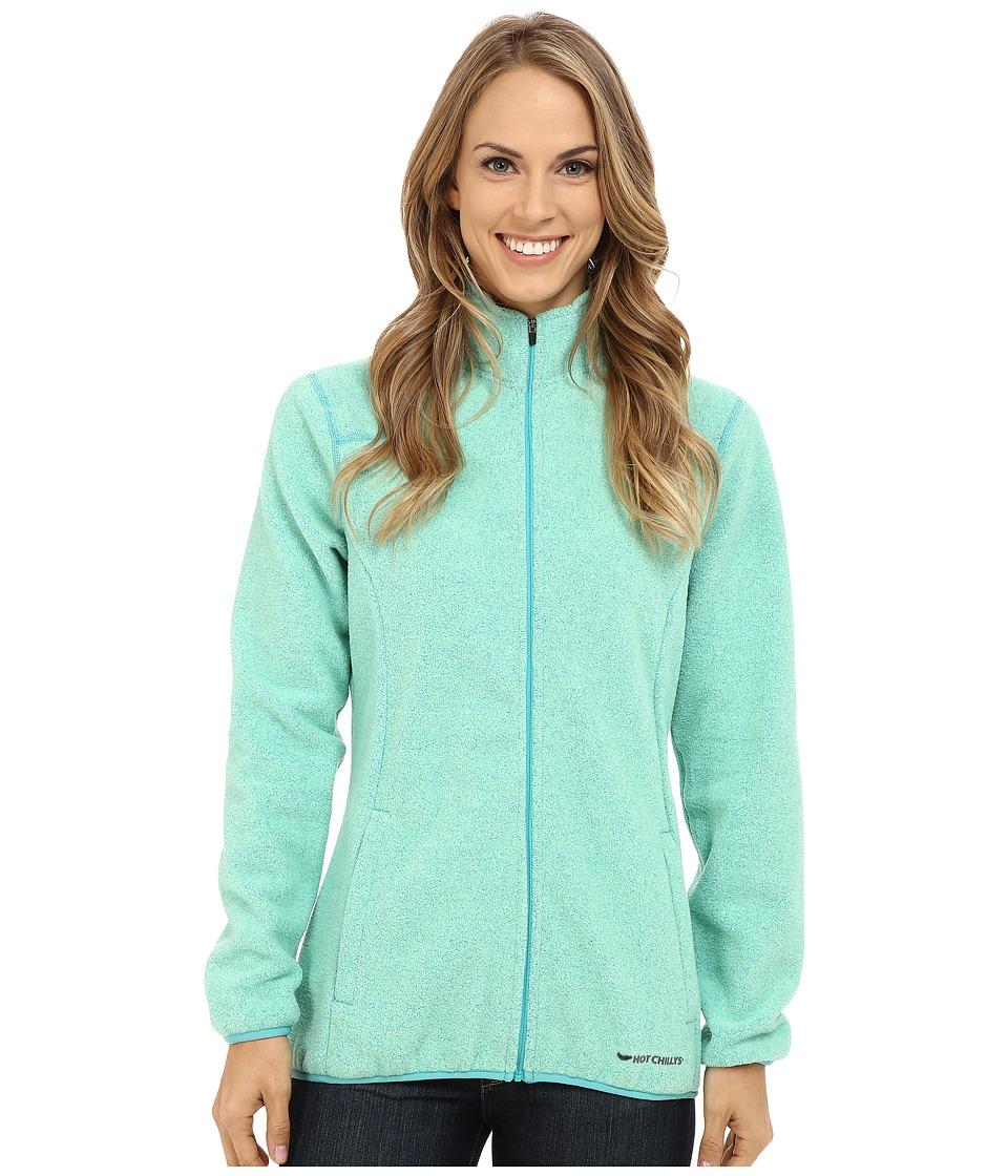 Hot Chillys - Baja Zip Jacket w/ Binding (Ocean) Women's Coat