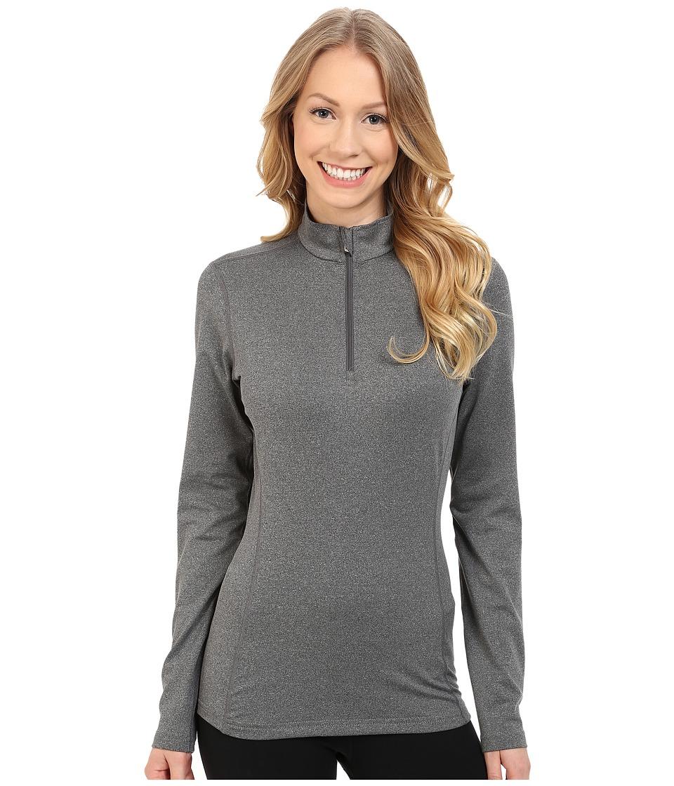 Hot Chillys - Micro-Elite Chamois 8K Solid Zip-T (Granite) Women's Long Sleeve Pullover
