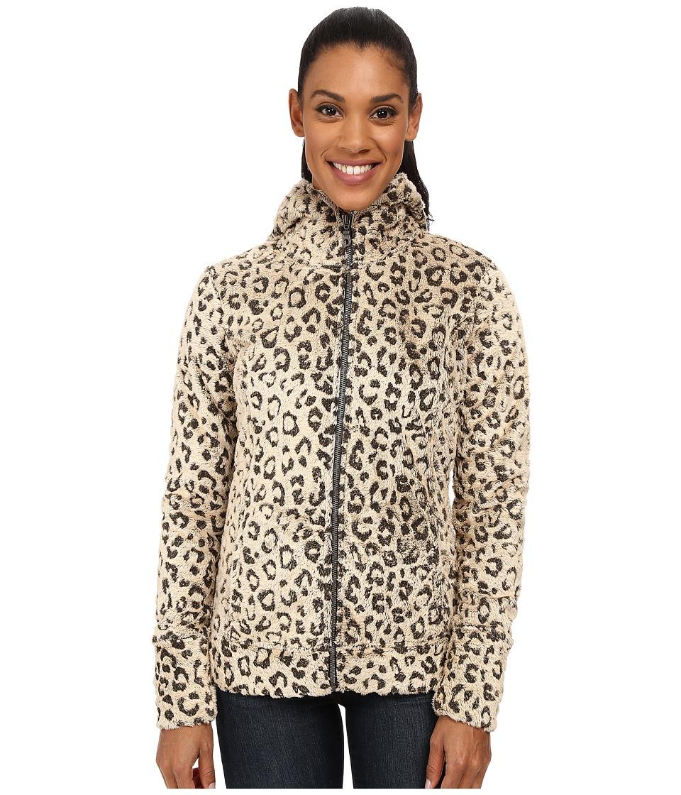 Hot Chillys - La Reina Print Zip Hoodie (Leopard Pewter) Women's Sweatshirt