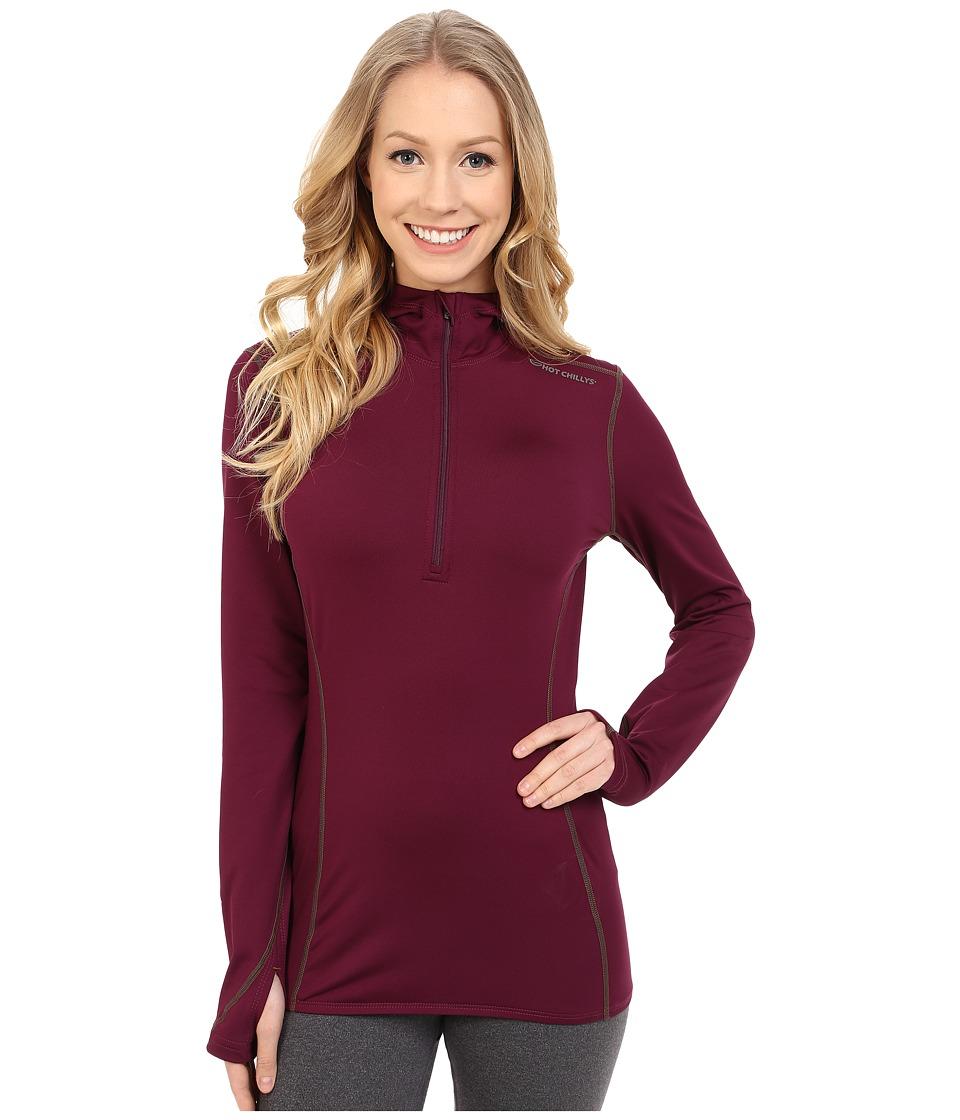 Hot Chillys - Micro-Elite Chamois 8K Hooded Zip (Viola) Women's T Shirt