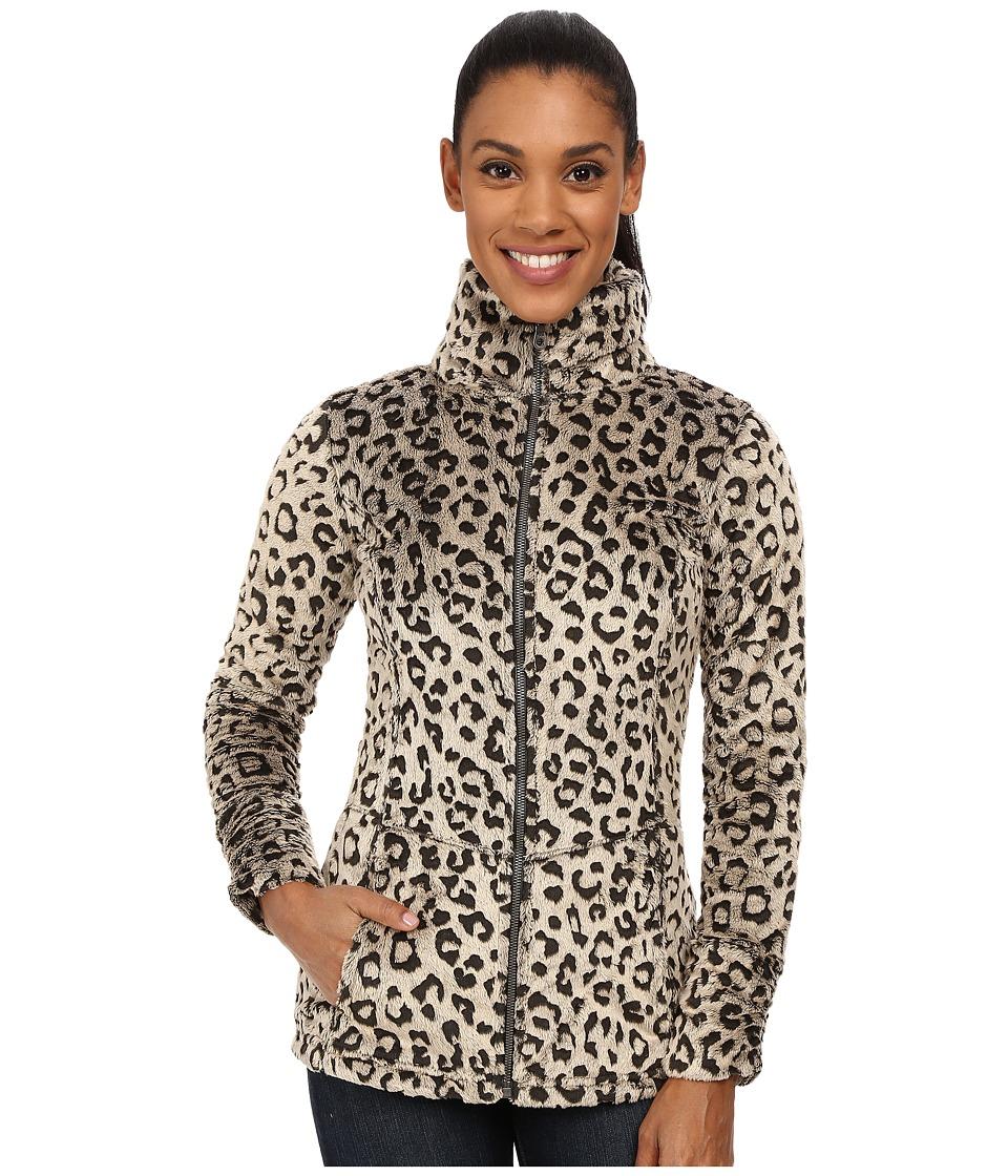 Hot Chillys - La Reina Print Zip Jacket (Leopard Pewter) Women's Coat
