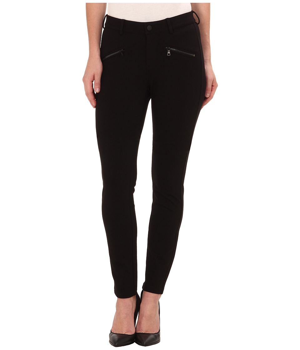 NYDJ - Zip Ponte Leggings (Black) Women's Casual Pants