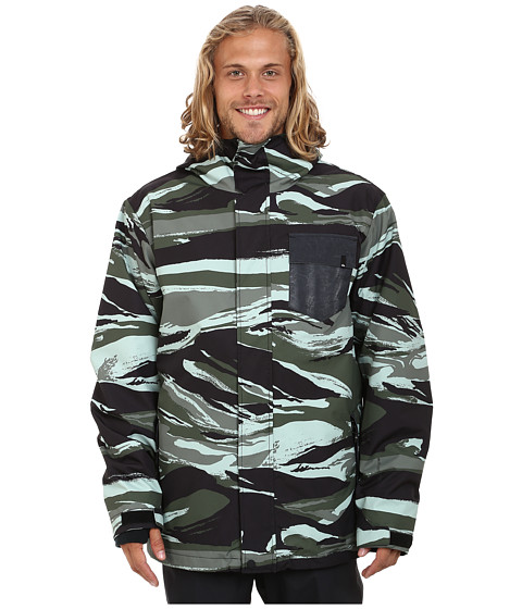 Quiksilver - Mission 3-in-1 Snow Jacket (Dusty Olive) Men's Coat