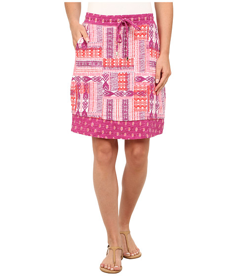 Mod-o-doc - Aztec Patchwork Printed Slub Jersey Mixed Print Skirt (Plume) Women's Skirt