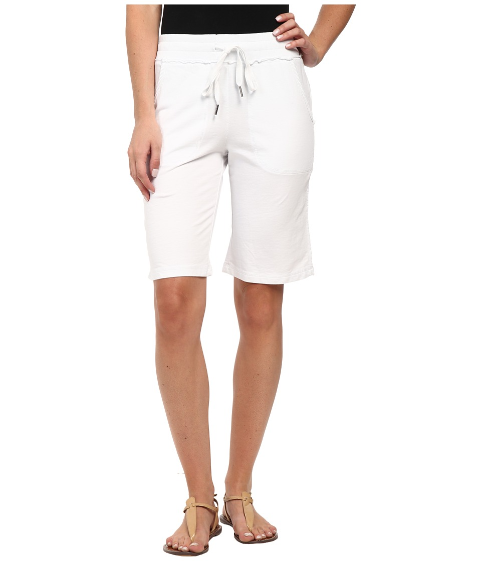 Mod-o-doc - French Terry Raw Edge Seamed Pull-On Short (White) Women's Shorts