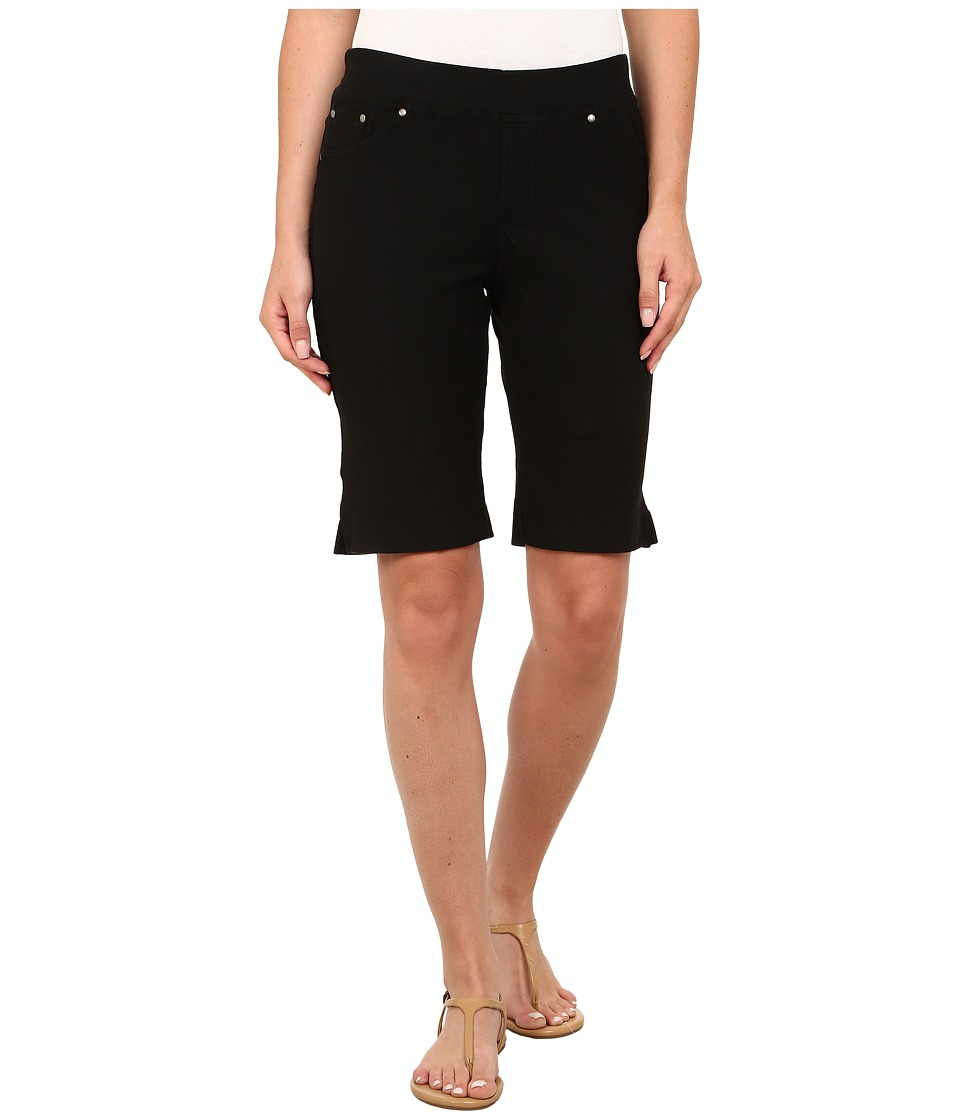 Mod-o-doc - Stretch Knit Twill Bermuda Shorts (Black) Women's Shorts plus size,  plus size fashion plus size appare