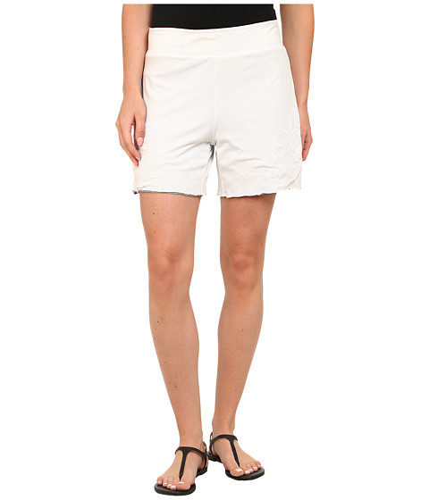 Mod-o-doc - Supreme Jersey Embroidered Reversible Shorts (White) Women