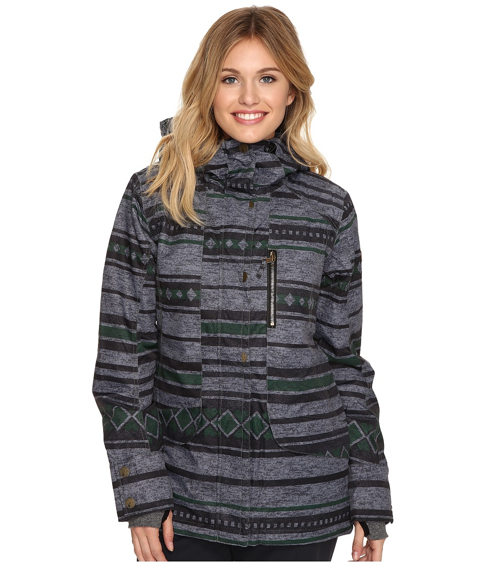 Roxy - Andie Snow Jacket (Stripe Jacquard) Women
