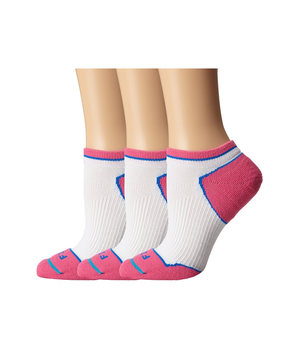 Fits - Light Runner Tech Low 3-Pack (White/Pink Glow) Women's Low Cut Socks Shoes