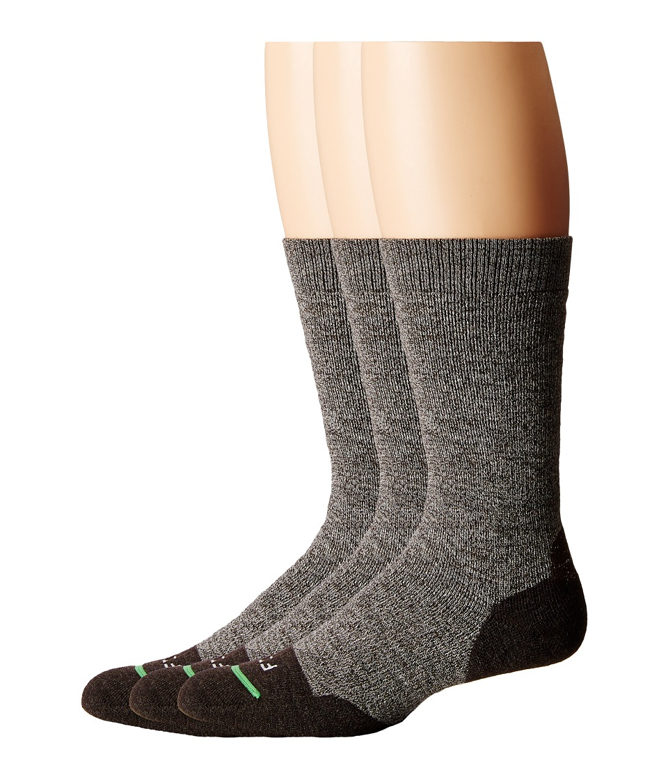 Fits - Medium Hiker Crew 3-Pack (Brown) Crew Cut Socks Shoes