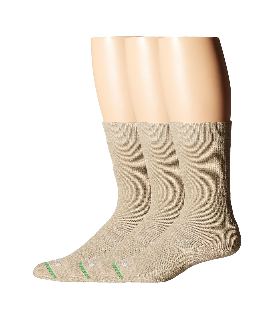 Fits - Medium Hiker Crew 3-Pack (Stone) Crew Cut Socks Shoes