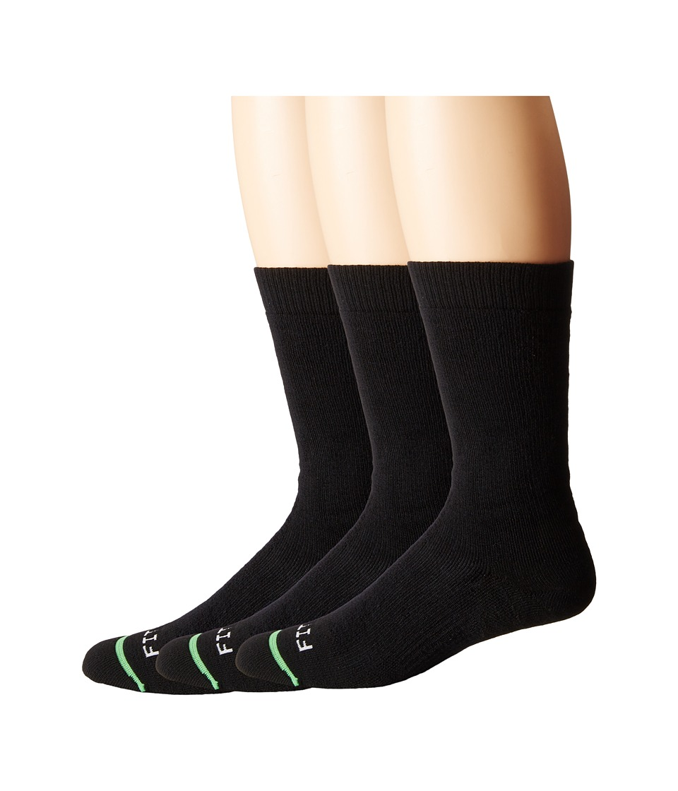 Fits - Medium Hiker Crew 3-Pack (Black) Crew Cut Socks Shoes