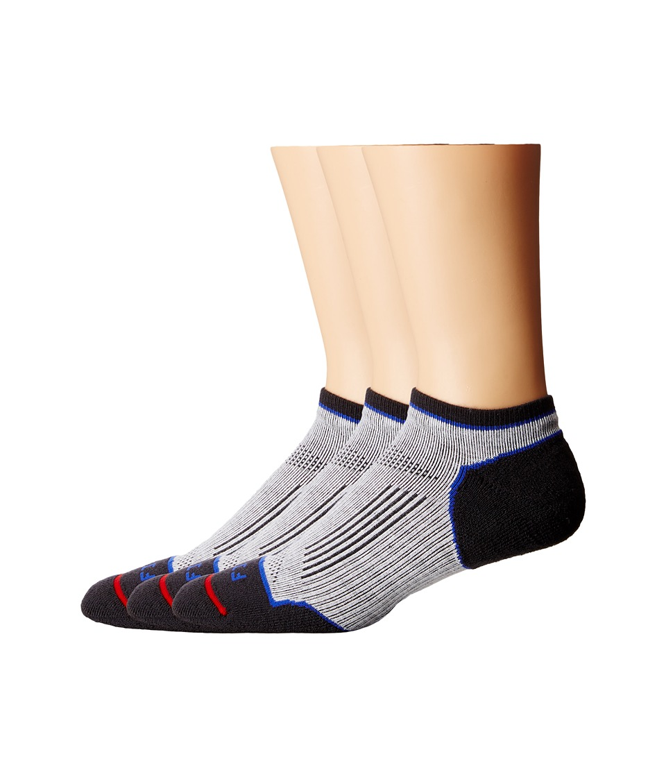 Fits - Light Runner Tech Low 3-Pack (White/Nine Iron) Low Cut Socks Shoes