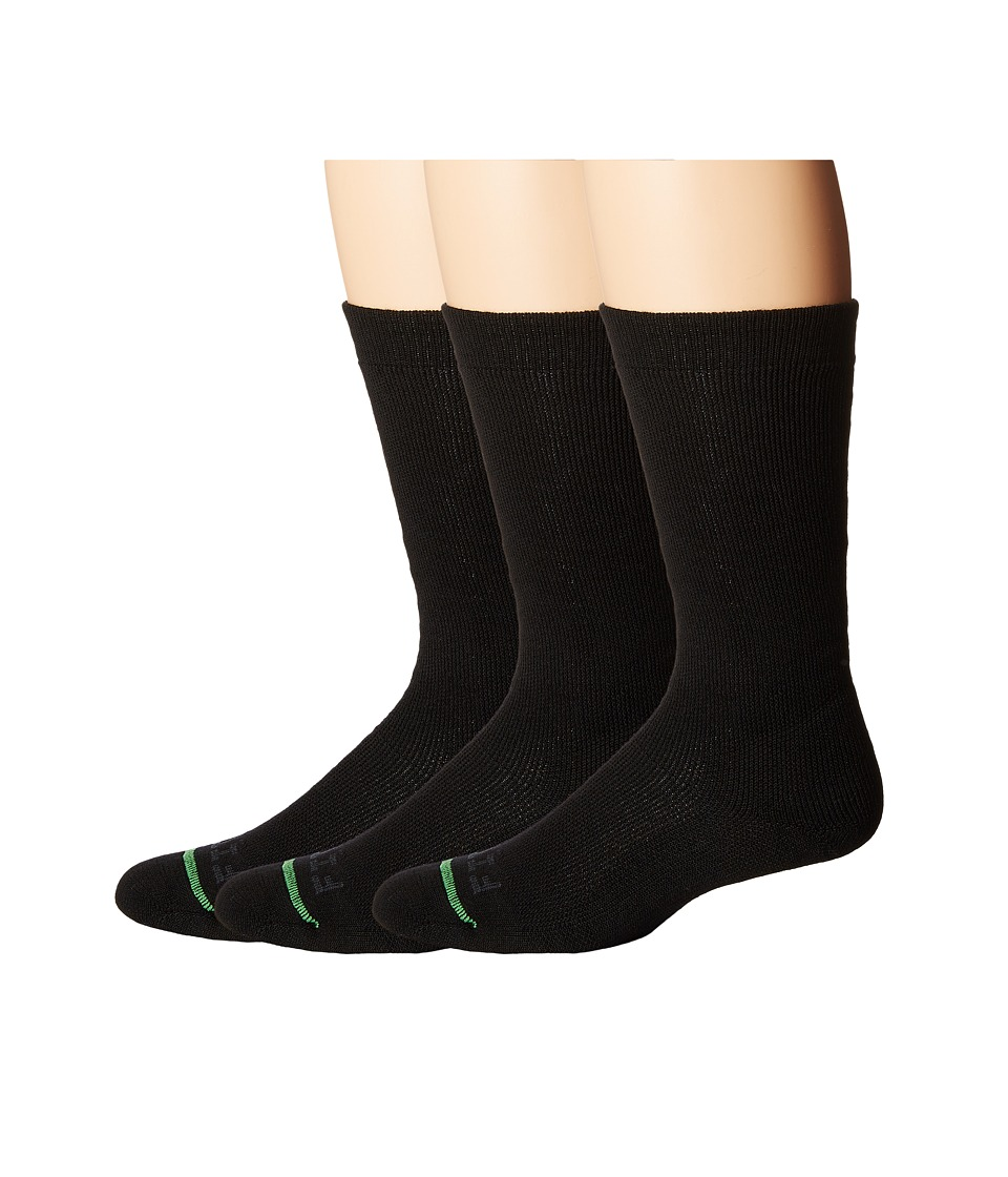 Fits - Medium Expedition Rugged Crew 3-Pack (Black) Crew Cut Socks Shoes