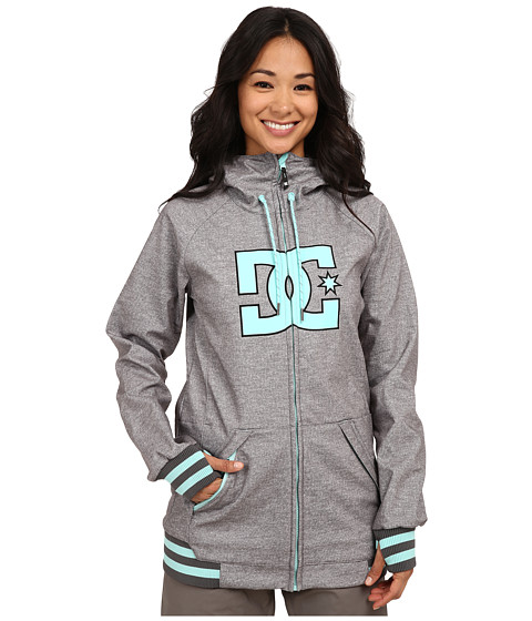 DC - Brooklyn J Snow Jacket (Heather Mid Grey) Women's Coat