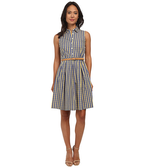 Nine West - Belted Shirt Dress (Sunflower) Women