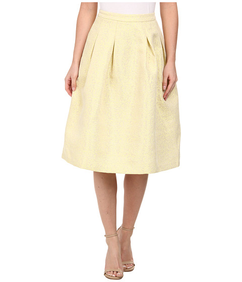 Brigitte Bailey - Leila Knee Length Skirt (Gold) Women's Skirt