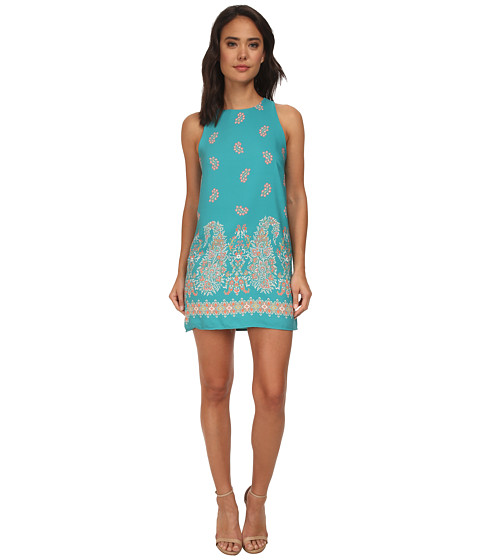 Brigitte Bailey - Paris Sleeveless Print Shift Dress (Teal) Women
