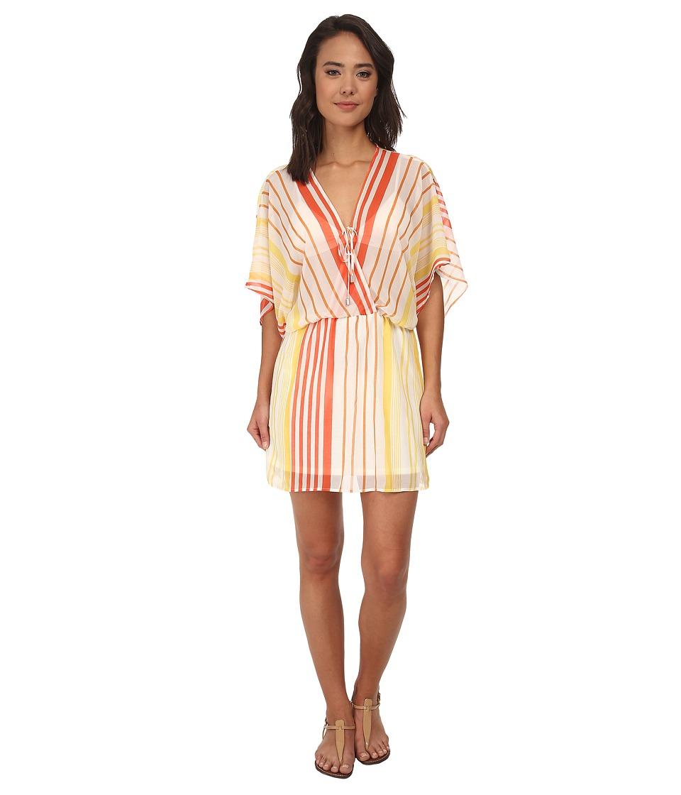 Brigitte Bailey - Cali Dress Cover-Up (Orange Stripe) Women