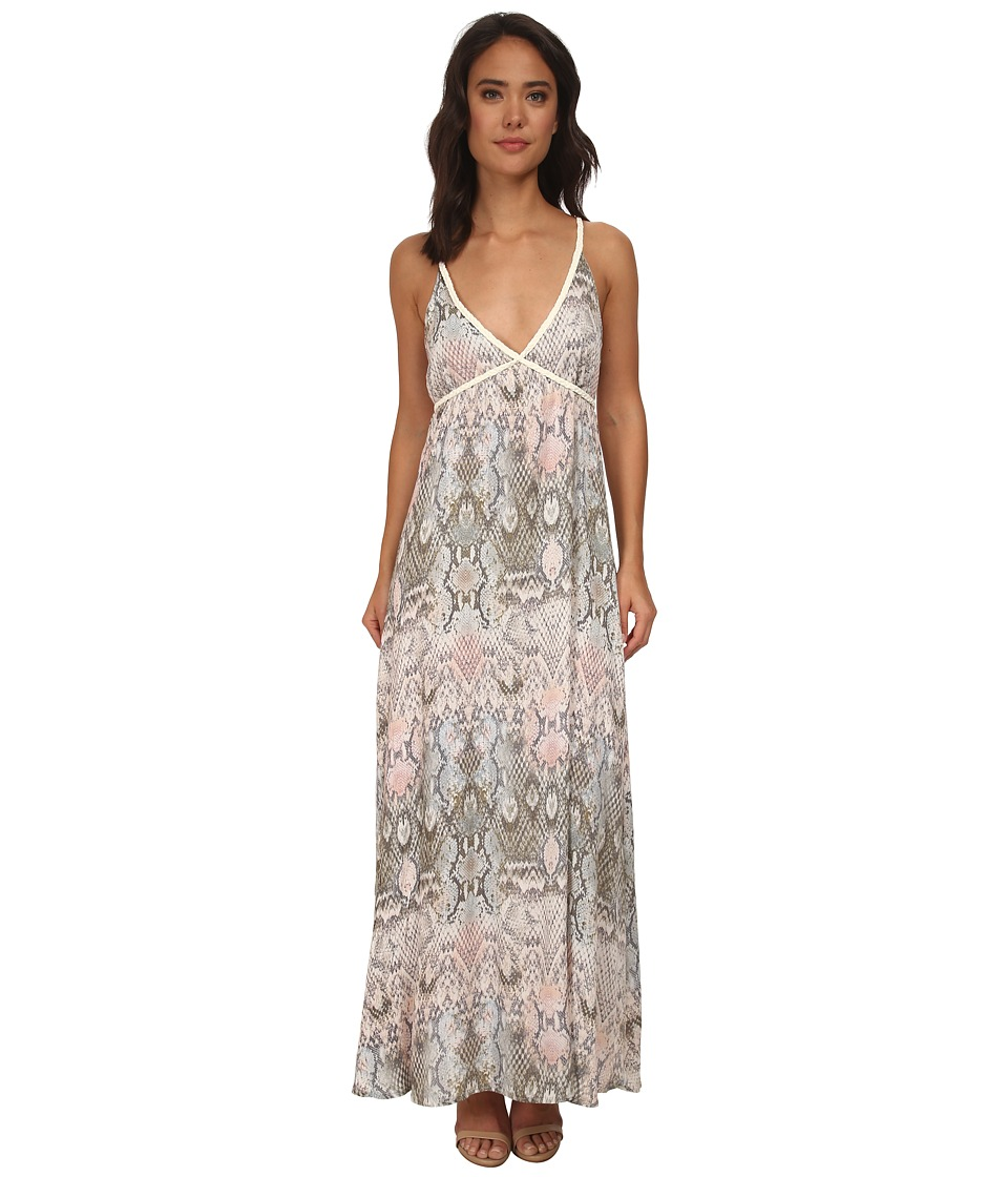 Brigitte Bailey - Bria Snake Print Maxi Dress (Ivory Multi) Women's Dress