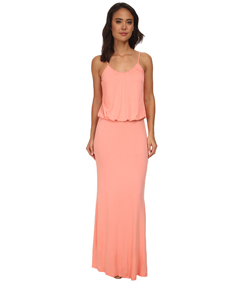 Brigitte Bailey - Kelsie Spaghetti Strap Maxi Dress (Coral) Women's Dress